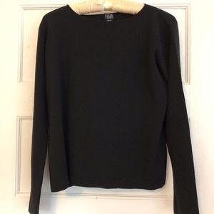 Eileen Fisher black wool sweater PM
